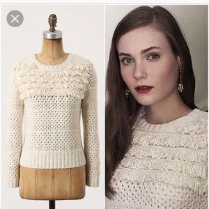 Anthropologie cropped woven sweater
